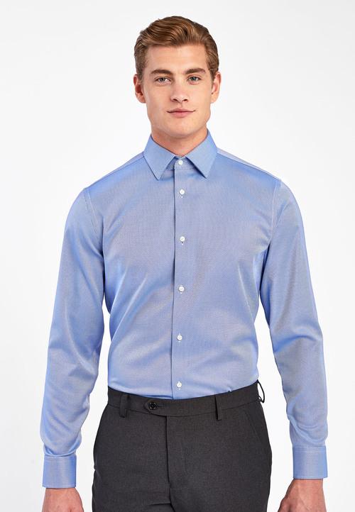Next Non-Iron Egyptian Cotton Stretch Signature Shirt-Regular Fit Single Cuff