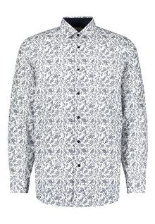 Next Floral Print Shirt-Regular Fit Single Cuff