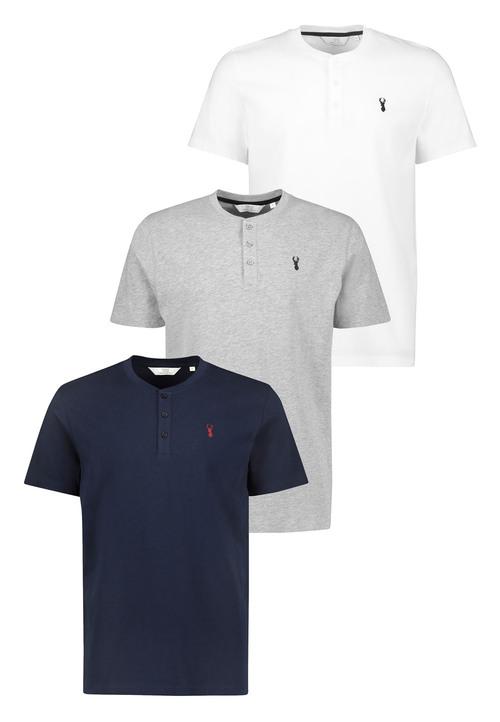 Next Logo Grandad T-Shirts Three Pack