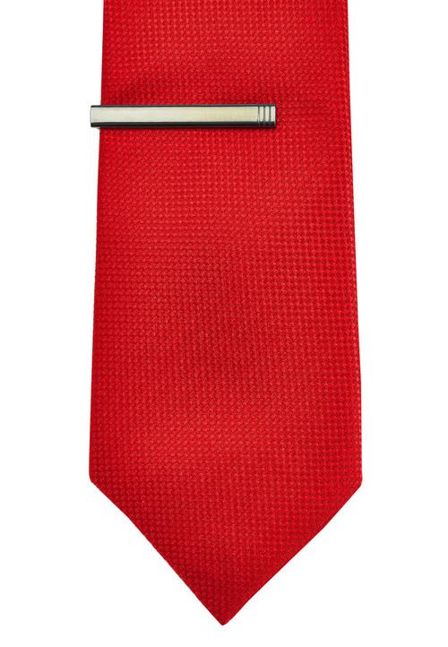 Next Textured Tie With Tie Clip