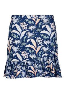 Next Linen Blend Ruffle Skirt