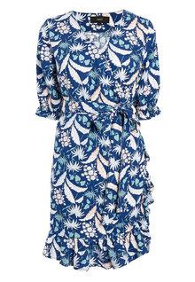 Next Linen Blend Wrap Mini Dress