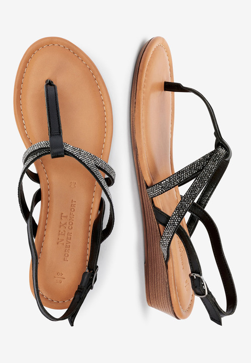 Next Forever Comfort Mini Wedge Toe Post-Wide