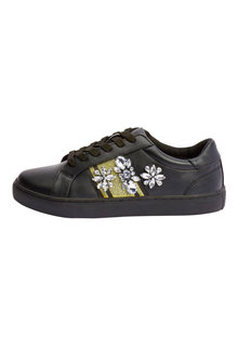 Next Jewelled Webbing Lace-Up Trainers