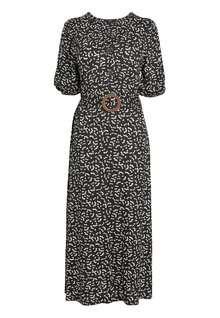 Next Printed Button Through Jersey Midi Dress - 251184