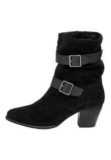 Next Forever Comfort Buckle Detail Boots- Wide