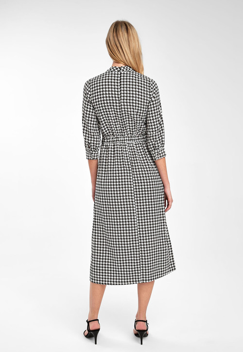 Next Dogtooth Print Dress