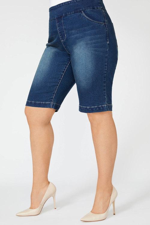 Sara Denim Pull On Short