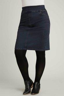 Sara Pull On Denim Skirt - 251236