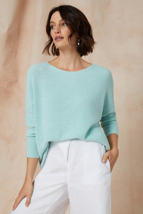 Grace Hill Cotton Cashmere Sweater
