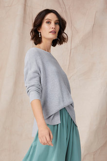 Grace Hill Cotton Cashmere Sweater - 251290