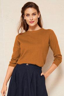 Grace Hill Cotton Cashmere Button Sweater - 251291