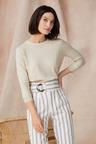 Grace Hill Cotton Cashmere Button Sweater