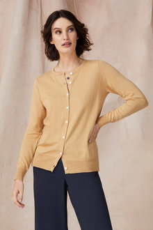 Grace Hill Cotton Cashmere Cardigan - 251292