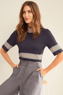 Grace Hill Short Sleeved Sweater - 251293