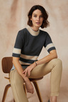 Grace Hill Short Sleeved Sweater