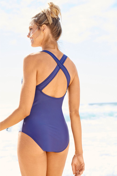 Quayside Sport Luxe High Neck Swimsuit