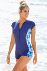 Quayside Sport Luxe Cap Sleeve Swimsuit