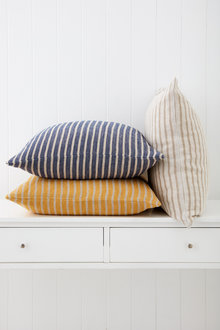 Striped Linen Cushion - 251341