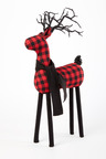 Gingham Reindeer Ornament