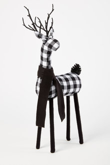 Gingham Reindeer Ornament - 251343