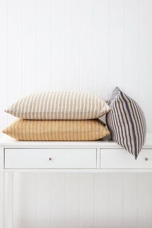 Striped Linen Breakfast Cushion - 251344