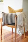 Striped Linen Breakfast Cushion