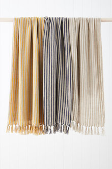 Striped Linen Throw - 251345