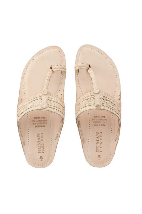 Human Premium Shell Sandal Flat
