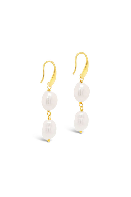 Fairfax and Roberts Baroque Pearl Double Drop Earring