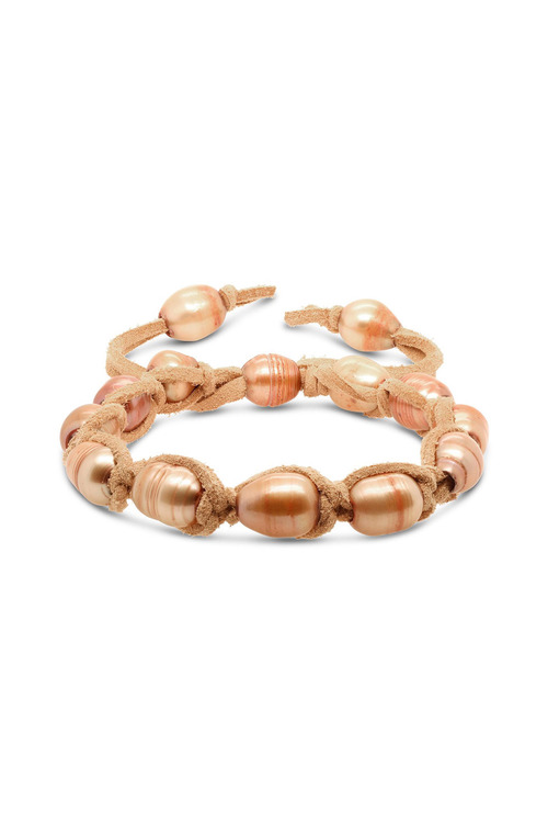 Fairfax and Roberts Real Freshwater Pearl & Suede Adjustable Bracelet