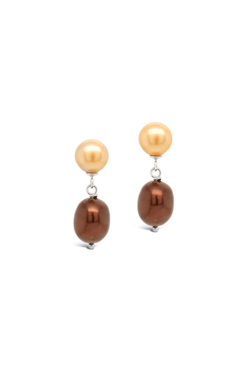 Fairfax and Roberts Real Freshwater Pearl Ombre Drop Earrings