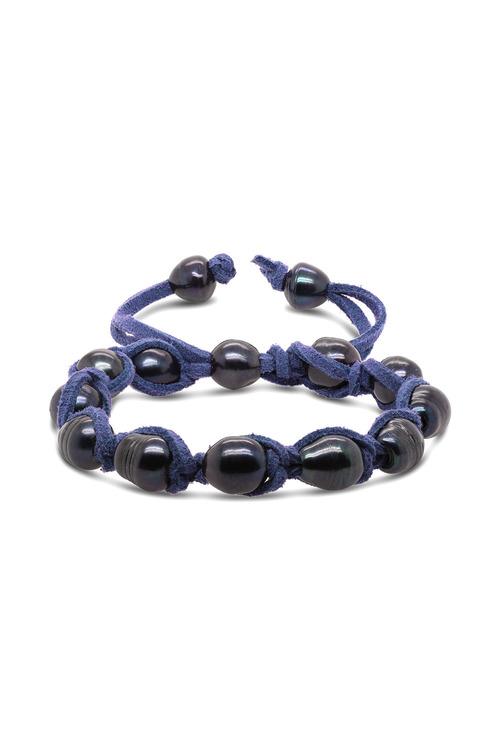 Fairfax & Roberts Real Freshwater Pearl & Suede Adjustable Bracelet