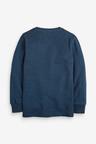 Next Navy Long Sleeve Pique T-Shirt