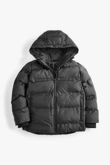 Next Black Fleece Lined Padded Jacket - 251454