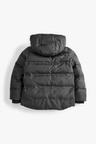 Next Black Fleece Lined Padded Jacket (5-16yrs)