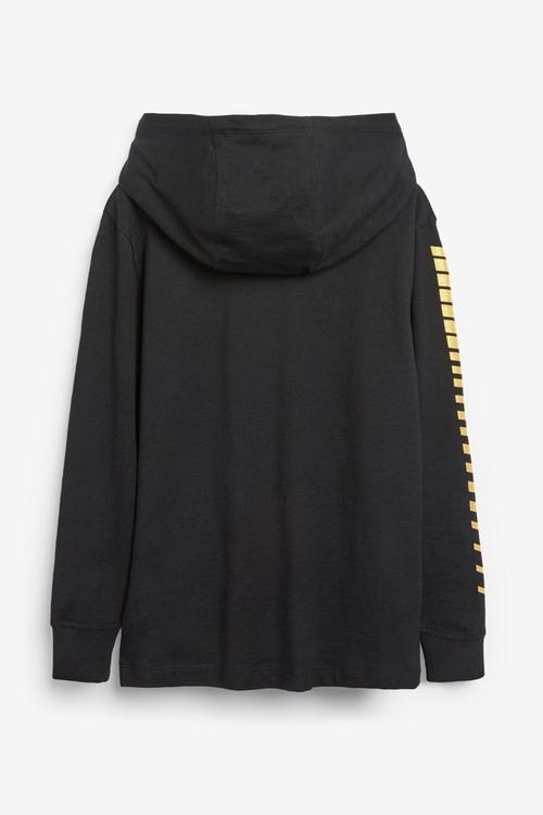 Next Black Football Boot Hooded T-Shirt (5-16yrs)