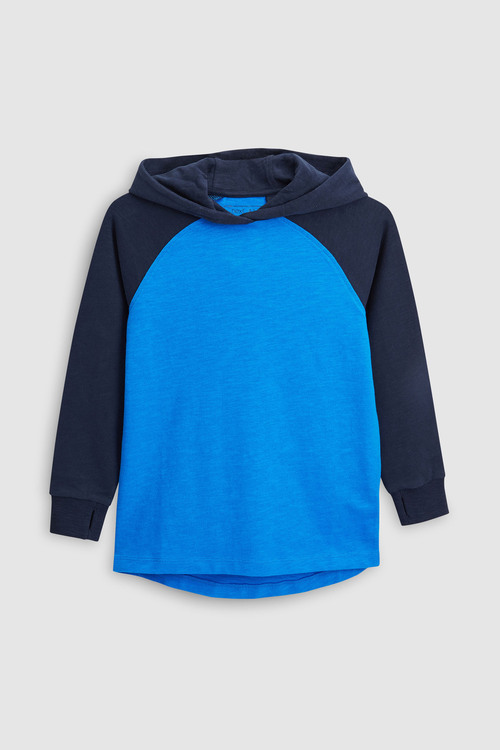 Next Blue/White Raglan Hoodies Two Pack (5-16yrs)