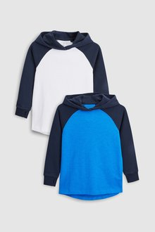Next Blue/White Raglan Hoodies Two Pack - 251464