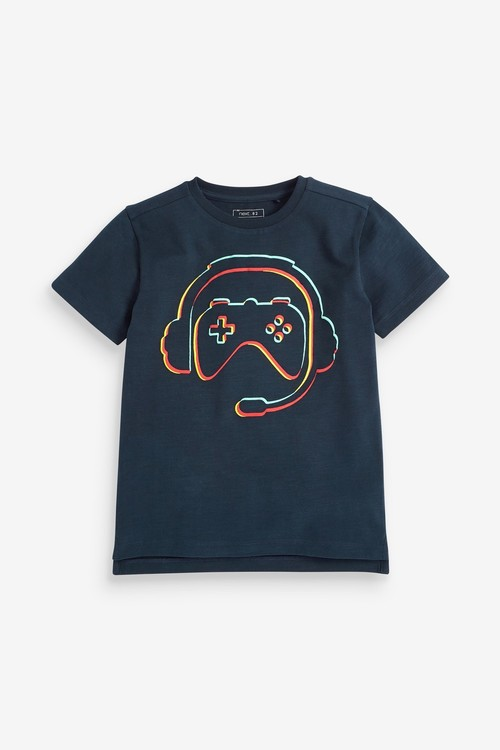 Next Navy Controller Graphic T-Shirt