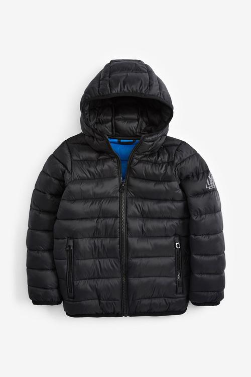 Next Black Shower Resistant Padded Jacket