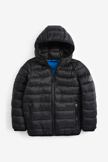 Next Black Shower Resistant Padded Jacket - 251482