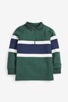 Next Green Long Sleeve Zip Neck Polo