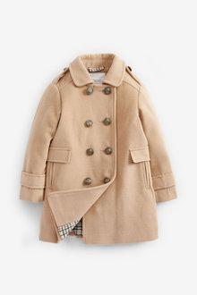 Next Camel Military Wool Coat - 251503