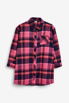 Next Bright Pink Check Shirt - 251519