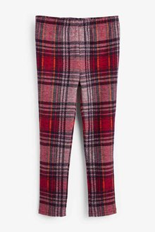 Next Red Check Ponte Trousers - 251520