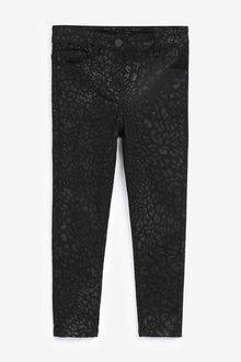 Next Black Animal Coated Skinny Jeans - 251523