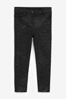 Next Black Animal Coated Skinny Jeans (5-16yrs)