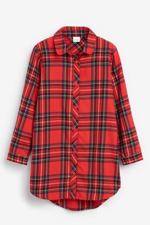 Next Tartan Check Longline Shirt (5-16yrs)