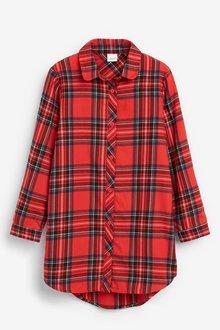 Next Tartan Check Longline Shirt - 251528